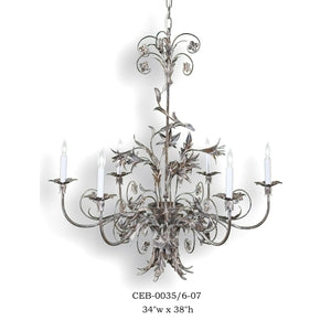 Other Metal Chandelier - CEB-0035/6-07Chandelier - Graham's Lighting Memphis, TN