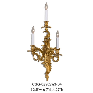 Brass Sconce - CGG-0292/A3-04Sconce - Graham's Lighting Memphis, TN
