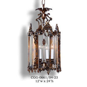 Brass Lantern and Pendant - CGG-0661/S4-23Pendant - Graham's Lighting Memphis, TN