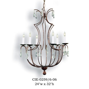 Crystal Chandelier - CIE-0259/6-06Chandelier - Graham's Lighting Memphis, TN