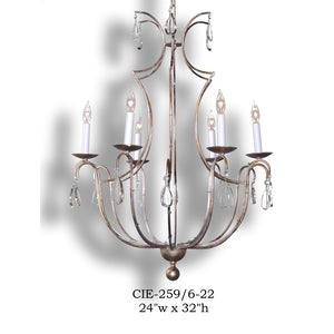 Crystal Chandelier - CIE-0259/6-22Chandelier - Graham's Lighting Memphis, TN