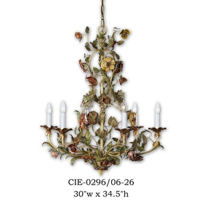 Other Metal Chandelier - CIE-0296/6-26Chandelier - Graham's Lighting Memphis, TN