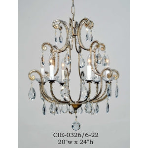 Crystal Chandelier - CIE-0326/6-22Chandelier - Graham's Lighting Memphis, TN