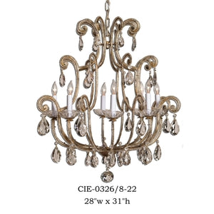 Crystal Chandelier - CIE-0326/8-22Chandelier - Graham's Lighting Memphis, TN