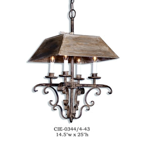Other Metal Chandelier - CIE-0344/4-43Chandelier - Graham's Lighting Memphis, TN