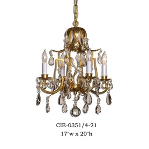 Crystal Chandelier - CIE-0351/4-21Chandelier - Graham's Lighting Memphis, TN