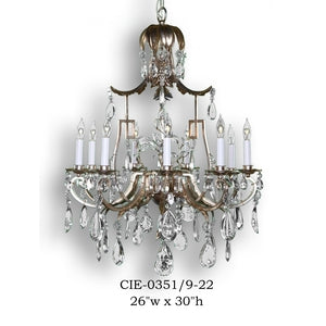 Crystal Chandelier - CIE-0351/9-22Chandelier - Graham's Lighting Memphis, TN