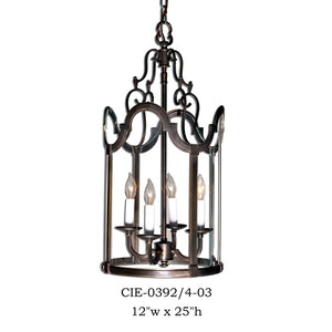 Brass Lantern and Pendant - CIE-0392/4-03Pendant - Graham's Lighting Memphis, TN