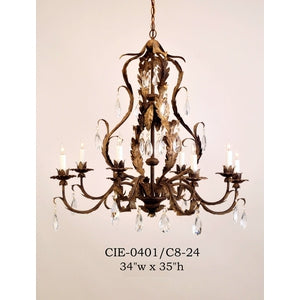 Crystal Chandelier - CIE-0401/C8-24Chandelier - Graham's Lighting Memphis, TN