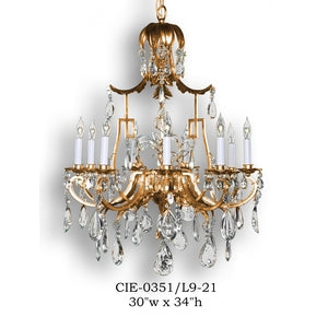 Crystal Chandelier - CIE-0351/L9-21Chandelier - Graham's Lighting Memphis, TN