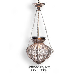 Crystal Lantern and Pendant - CNC-0122/1-21Pendant - Graham's Lighting Memphis, TN