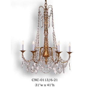 Crystal Chandelier - CNC-0113/6-21Chandelier - Graham's Lighting Memphis, TN