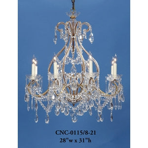 Crystal Chandelier - CNC-0115/8-21Chandelier - Graham's Lighting Memphis, TN