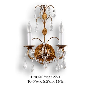 Crystal Sconce - CNC-0125/A2-21Sconce - Graham's Lighting Memphis, TN