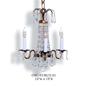 Crystal Chandelier - CNC-0130/3-21Chandelier - Graham's Lighting Memphis, TN