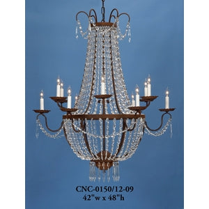 Crystal Chandelier - CNC-0150/12-09Chandelier - Graham's Lighting Memphis, TN