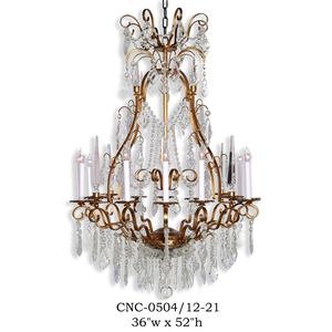 Crystal Chandelier - CNC-0504/12-21Chandelier - Graham's Lighting Memphis, TN