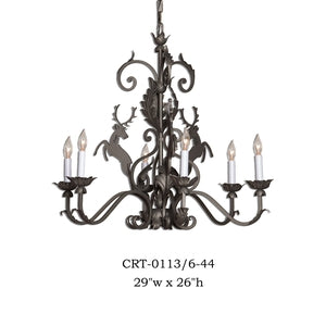 Other Metal Chandelier - CRT-0113/6-44Chandelier - Graham's Lighting Memphis, TN