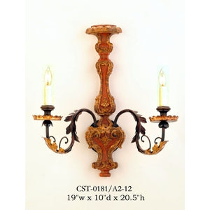 Wood Sconce - CST-0181/A2-12Sconce - Graham's Lighting Memphis, TN