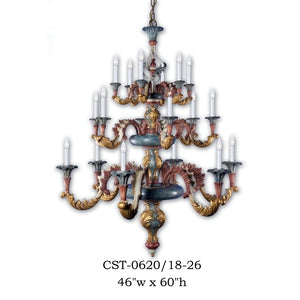 Wood Chandelier - CST-0620/18-26Chandelier - Graham's Lighting Memphis, TN