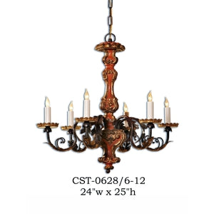 Wood Chandelier - CST-0628/6-12Chandelier - Graham's Lighting Memphis, TN