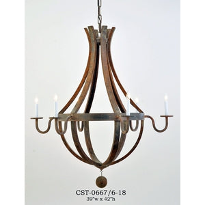 Wood Chandelier - CST-0667/6-18Chandelier - Graham's Lighting Memphis, TN