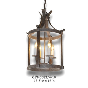 Wood Lantern and Pendant - CST-0682/4-18Pendant - Graham's Lighting Memphis, TN
