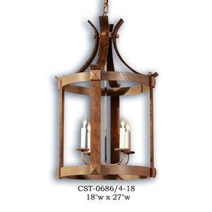 Wood Lantern and Pendant - CST-0686/4-18Pendant - Graham's Lighting Memphis, TN