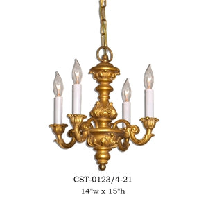 Wood Chandelier - CST-0123/4-21Chandelier - Graham's Lighting Memphis, TN