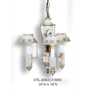 Other Metal Chandelier - CTL-Z003/3 SNDChandelier - Graham's Lighting Memphis, TN