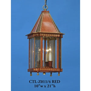 Other Metal Lantern and Pendant - CTL-Z011/4 REDPendant - Graham's Lighting Memphis, TN