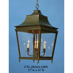 Other Metal Lantern And Pendant Ctl Z016 4 Grn Graham