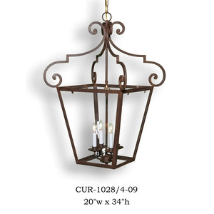 Other Metal Lantern and Pendant - CUR-1828/4-09Pendant - Graham's Lighting Memphis, TN