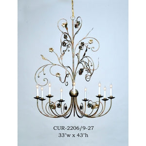 Other Metal Chandelier - CUR-2206/9-27Chandelier - Graham's Lighting Memphis, TN