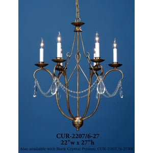 Crystal Chandelier - CUR-2207/6-27Chandelier - Graham's Lighting Memphis, TN