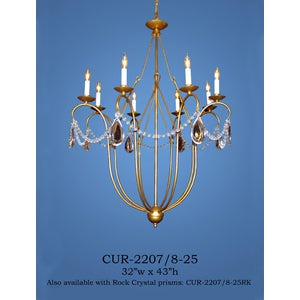 Crystal Chandelier - CUR-2207/8-25Chandelier - Graham's Lighting Memphis, TN
