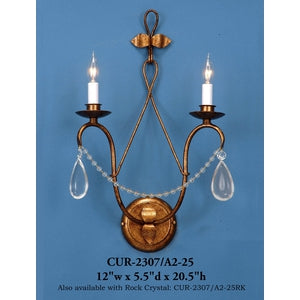 Crystal Sconce - CUR-2307/A2-25Sconce - Graham's Lighting Memphis, TN