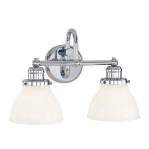 3D-8302-CH-128 - Chrome Baxter 2 Light Bathroom Vanity LightBath/Vanity - Graham's Lighting Memphis, TN