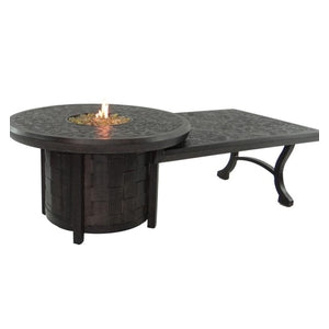 Classical Round Firepit W/32″ x 48″ Coffee TableFire Pits - Graham's Lighting Memphis, TN