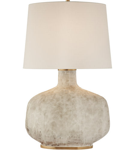 Antiqued White Ceramic Table Lamp 22G-KW3614AWC-LLamp - Graham's Lighting Memphis, TN