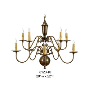 Brass Chandelier - 8120-10Chandelier - Graham's Lighting Memphis, TN