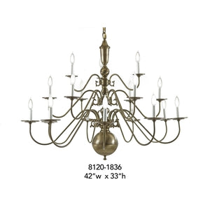 Brass Chandelier - 8120-1836Chandelier - Graham's Lighting Memphis, TN