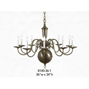Brass Chandelier - 8140-36-1Chandelier - Graham's Lighting Memphis, TN