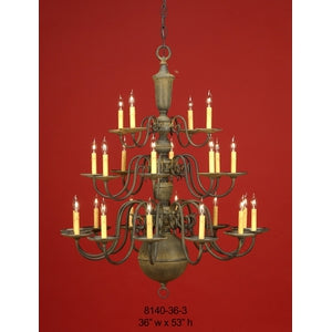 Brass Chandelier - 8140-36-3Chandelier - Graham's Lighting Memphis, TN