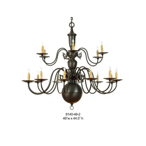 Brass Chandelier - 8140-48-2Chandelier - Graham's Lighting Memphis, TN