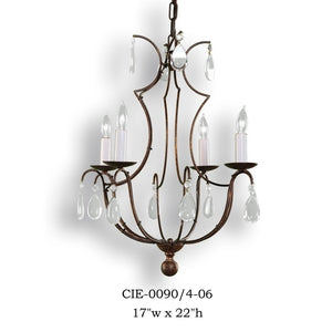 Crystal Chandelier - CIE-0090/4-06Chandelier - Graham's Lighting Memphis, TN