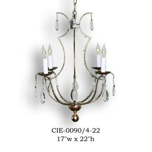 Crystal Chandelier - CIE-0090/4-22Chandelier - Graham's Lighting Memphis, TN