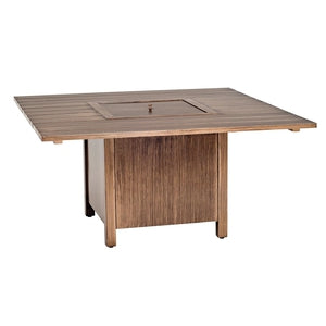 Woodlands Square Fire Table With Square BurnerFire Pits - Graham's Lighting Memphis, TN