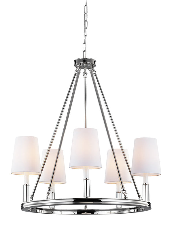 5 - LIGHT LISMORE CHANDELIER- 6L-F2922/5PNChandelier - Graham's Lighting Memphis, TN