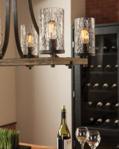 6 - LIGHT CHANDELIER- 6L-F3134/6DWK/SGMChandelier - Graham's Lighting Memphis, TN